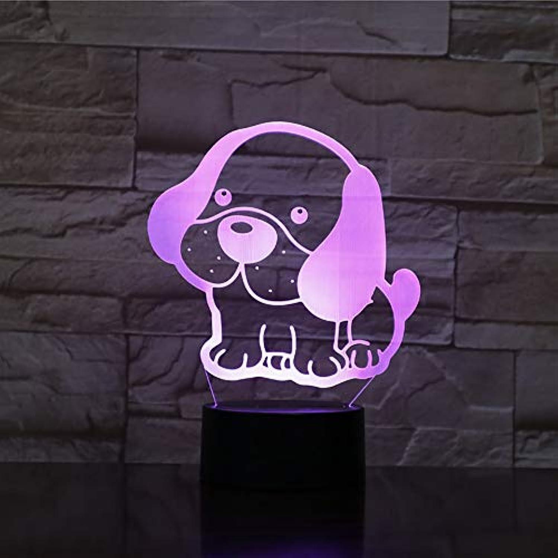 Mozhate Bedside Decor Baby Schlaf Beleuchtung Geschenke 7 Bunte Nachtlicht 3D Led Cute Puppy Modellierung USB Schreibtischlampe Tier Leuchte,Remote und berühren
