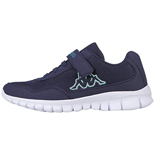 Kappa Unisex-Kinder Follow Sneaker, Navy/Mint, 35 EU