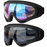 COOLOO Ski Goggles, Motorcycle Goggles, Snowboard Goggles for Men Women