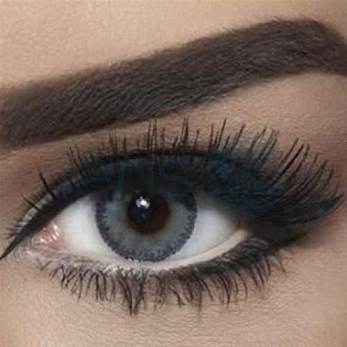 """natürliche stark deckende farbige Kontaktlinsen graue Farblinsen """"Navy Gray"""" von BELLA Markenlinsen hochwertige Qualität - inklusive deutscher Anleitung - ohne Dioptrien Stärke - 1 Paar (2 Stück)"""