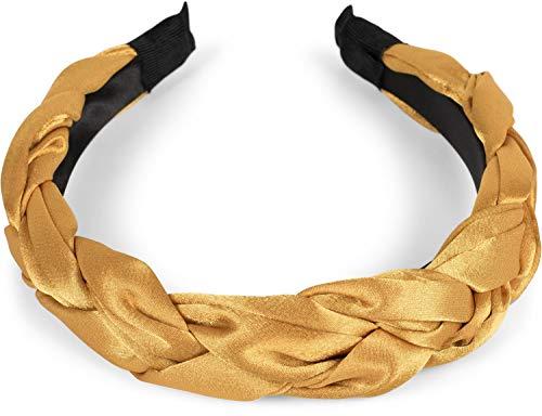 styleBREAKER vrouwen haarband in gevlochten look, Retro Style haarband, Hoofdband 04026045