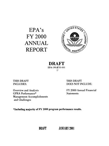 EPA's FY 2000 Annual Report: Draft (English Edition)