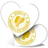 Impresionante pegatinas de corazón de 7,5 cm – Sellos de viaje Ecuador Sudamérica calcomanías divertidas para portátiles, tabletas, equipaje, reserva de chatarra, frigorífico, regalo genial #4658