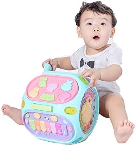 LIPENG-TOY Baby Baby Spielzeug Trommel Puzzle Baby Musik Handtrommeln 6-8-12 Monate Pat Drum 0-1 Jahre alt (Farbe   Bronze)