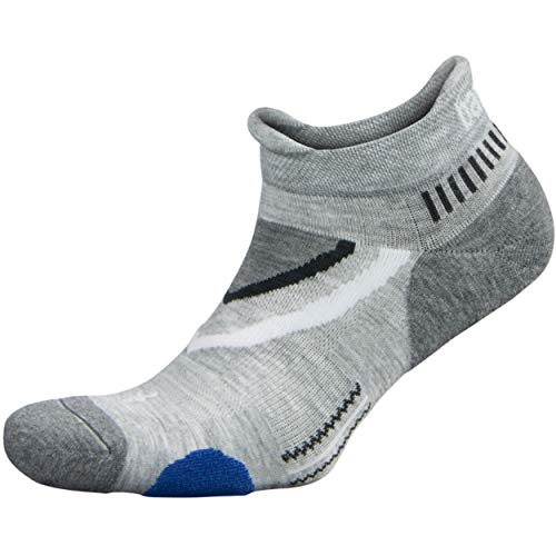Balega Ultraglide Friction-Free No-Show Socks in Mid Grey/Charcoal $7.83