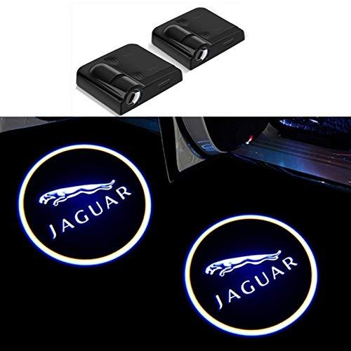 Car Door Welcome Light 2pcs Car Shadow Door Projector Light Wireless Welcome Lamp, for Jaguar X-TYPE F-TYPE S-TYPE XE XF XJ XK XJR XFR XJS XJL