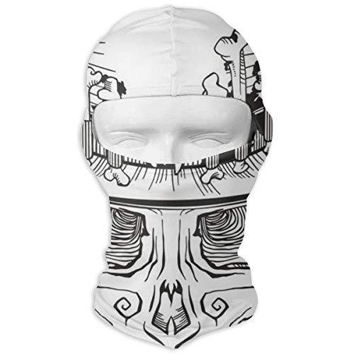 Vollgesichtsmaske Menschlicher Schädel Zylinder Baron Samedi Magische Kopfbedeckung Tube Neck Gaiter Face Bandana Mask