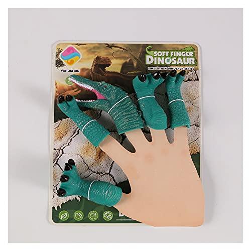 Fangzwl Handpuppen Neue Dinosaurier Finger Spielzeug für Kinder Geburtstagsgeschenke Nette Puppe Baby Pädagogische Cartoon Tier Mini Weichfinger Puppen Sets (Color : KK0039 3)
