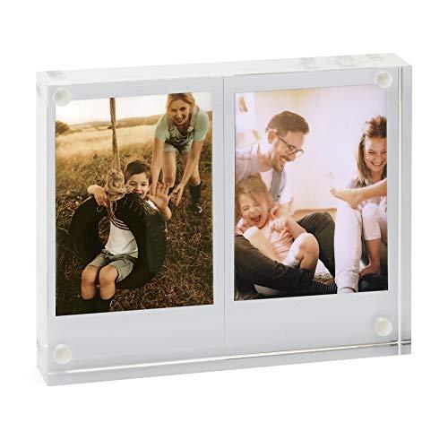 instax 70100139556 Fujifilm Mini Twin Acryl Fotoblock weiß