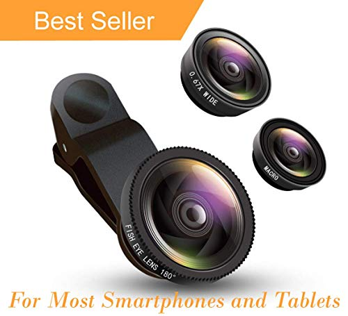 Sbezy 3-in-1 Clip-On Phone Camera Lens