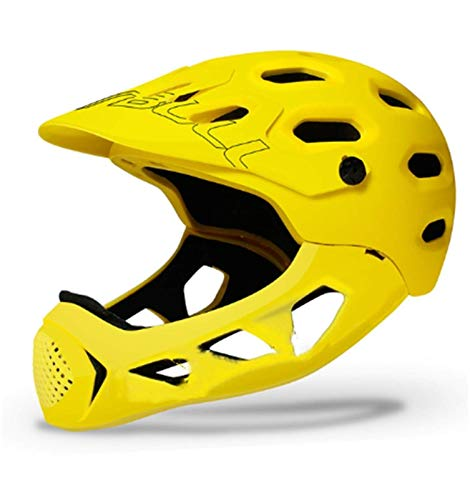 Bicicleta de montaña Johor Bahru Cross Country Bike Casco Completo Casco Extreme Deportes Seguridad Casco Equipo de Seguridad al Aire Libre (Color: Gris) (Color : Yellow)