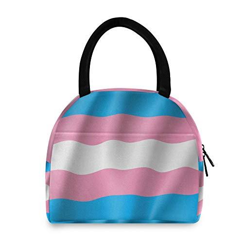 WYZQ Bolsa de Almuerzo Transgénero Símbolo Movimiento Bandera LGBT Mujer Hombre Caja de Almuerzo para Picnic Escolar Trabajo de Viaje para Adolescentes Bolsas frías