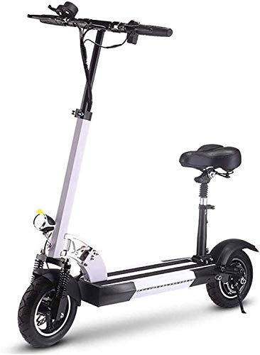 MQJ Ebikes Bicicletas Eléctricas Rápidas para Adultos Scooter de Patada Eléctrica con Asiento Desmontable, Mini Bicicleta Eléctrica con Batería de Litio de 36V 15.6Ah para Viajar Y Viajar