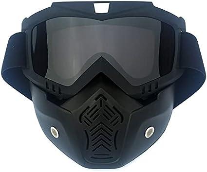 Gafas de Seguridad Gafas de Seguridad con Filtro de Boca Unisex Ski Ski Snowboard Mask Snowmobile Skiing Goggles Protector de Motocross a Prueba de Viento (Color : Gris)