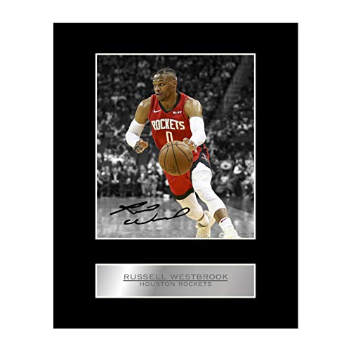 Russell Westbrook Signed Mounted Photo Display Houston Rockets #02 NBA Printed Autograph Gift Picture Print