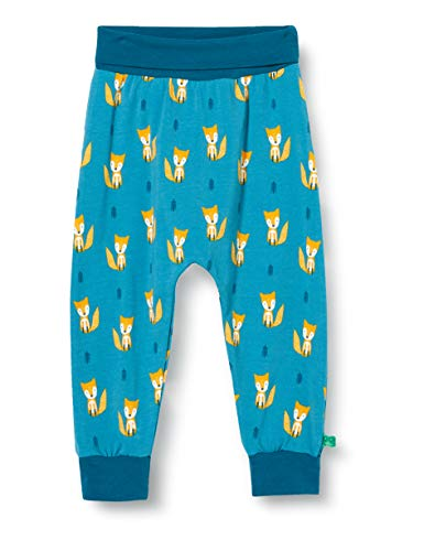Fred's World by Green Cotton Baby-Boys Fox Pants, Teal, 68