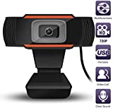 HD Webcam 1280 x 720p, Computer Camera with Microphone,5 Million Pixels, Video Recording,Calling, Conferencing, Gaming,Live Streaming Widescreen Webcam-Suit for Microsoft Teams, Dingtalk
