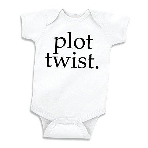Bump and Beyond Designs Surprise Pregnancy Announcement Grandparents Plot Twist (White 0-3 Months)