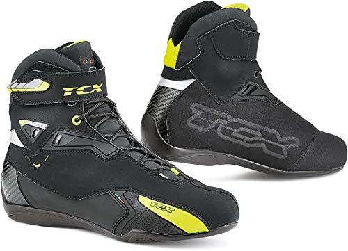 TCX Stivali Moto Rush WP Nero/Giallo, Nero/Giallo, 43