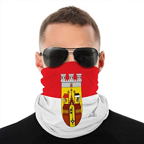 jiilwkie 616 Microfiber Neck Fashion Schutzhülle Anti Dust Flagge von Herford in Nordrhein Westfalen Deutschland Tube Scarf