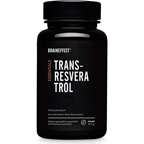 ESSENTIALS TRANS-RESVERATROL 500mg hochdosiert – Vegan - 60 Kapseln - Pflanzliches Nahrungsergänzungsmittel vom Japanischen Staudenknöterich mit Antioxidantien und Schwarzer-Pfeffer-Extrakt