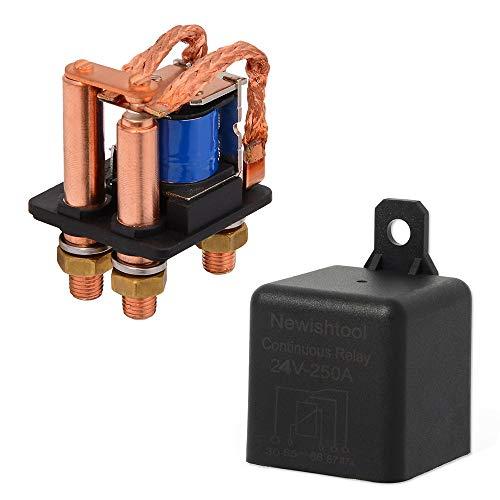 JLMOH Interruptor de Encendido, ON/Off Normalmente Abrir el Interruptor de Control de la batería Auto Accesorios de automóviles 12V 24V 250A 5PIN High Power Car Relay automotriz Tipo Continuo