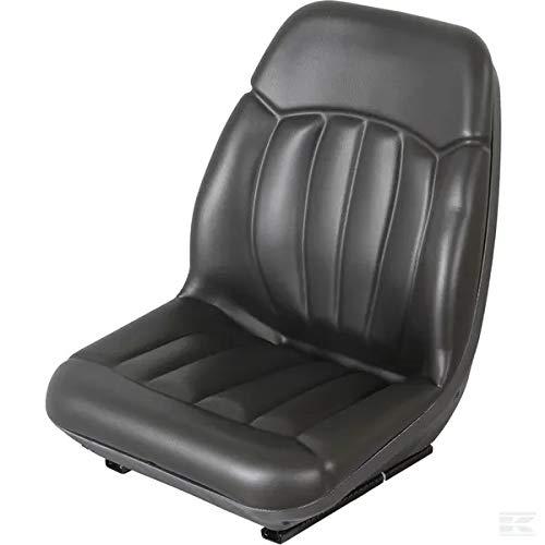 Traktor Sitz schwarz PVC mit hoher Rückenlehne 563 x 550 mm GOPART