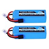 YOWOO 2pcs 4S 100C Graphene Battery 14.8v 6000mAh Lipo Battery for RC Car Truck Boat Helicopter Airplane Tracxas Slash X-Maxx Remote Control Buggy Truggy Crawler Monster Car