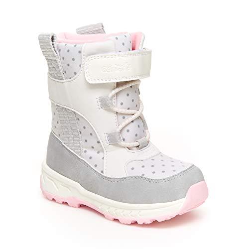 Carter's Girl's Uphill Snow Boot, Cream, 3 M US Little Kid