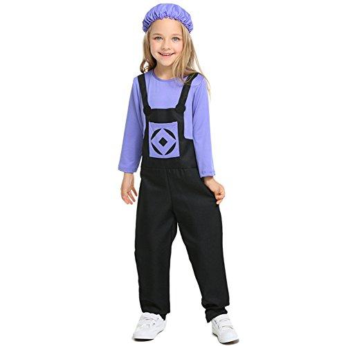 Costour Kinder Halloween Kostüm Böse Minions Jumpsuit Aufführung Party Einteilige Cosplay-Kleidung