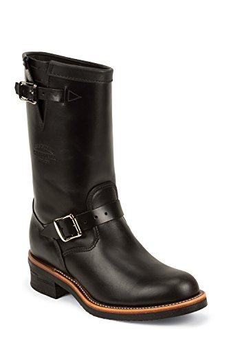 Chippewa 1901M48 Herren Leder Boots Stiefel schwarz, Black Whirlwind Upper Gr.46 mit Vibram V-Bar Kork Sohle