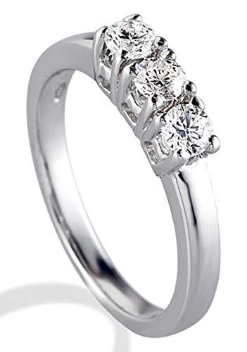 Anello Trilogy Gemoro in oro bianco e diamanti FT061BIA13 misura 11