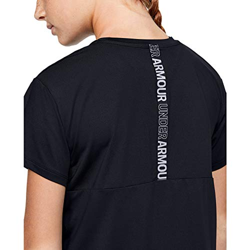 Under Armour - Fitness-T-Shirts für Mädchen in Schwarz, Größe S-M