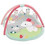 FEHN 057010 3-D-Activity-Decke Aiko & Yuki / Spielbogen mit 5 abnehmbaren Spielzeugen für Babys Spiel & Spaß im Liegen, Sitzen & beim Krabbeln, für Babys und Kleinkinder ab 0+ Monaten