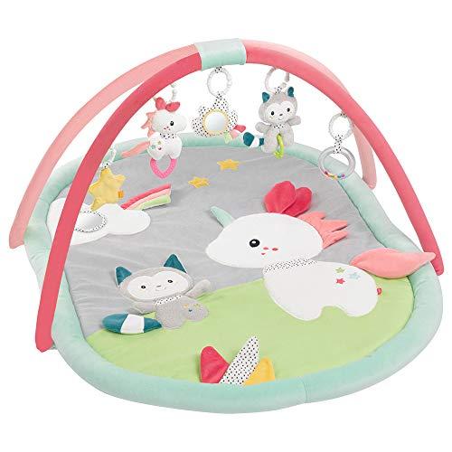 Fehn 057010 3-D-Activity-Decke Aiko & Yuki – Spielspaß zum Fühlen & Greifen für Babys und Kleinkinder ab 0+ Monaten – Maße: 85 x 110 cm