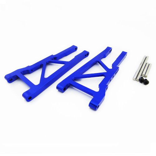 Atomik RC Alloy Front Lower Arm, Blue fits The Traxxas 1/10 Slash 4X4 and Other Traxxas Models - Replaces Traxxas Part 3655X
