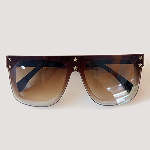 YJDZHSQ Gafas de Sol con Montura Cuadrada Grande Mujeres 2020 Gafas de Sol de Tendencia de Moda Gafas de Sol con Espejo Uv400 para Mujer Gafas de Sol n. °6