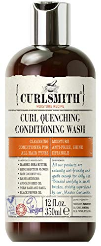 Curlsmith Curl Quenching Conditioning Wash - Vegan Cowash Shampooing et revitalisant 2 en 1 (350ml)