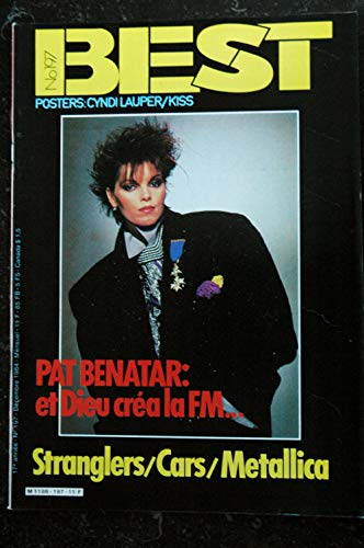 BEST 197 DECEMBRE 1984 PAT BENABAR STRANGLERS CARS METALLICA POSTERS KISS Cindy LAUPER