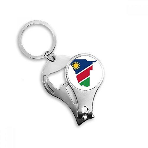 BeatChong la república de Namibia Bandera de áfrica país Clave de Mapa Metal de la Forma de la Cadena Cadena cortauñas multifunción abrebotellas Llavero del Coche Mejor Regalo del Encanto
