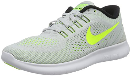 Nike Free Run 831509, Scarpe Da Corsa Donna, Grigio (Pure Platinum/Volt/Black/Wolf Grey), 36.5 EU