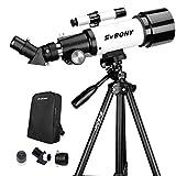 Svbony SV501P Telescopio Astronomico Profesional,70/400mm Telescopio para Niños Adultos Principiantes,con Trípode y Mochilapara Observación Lunar Celestial y Terrestre