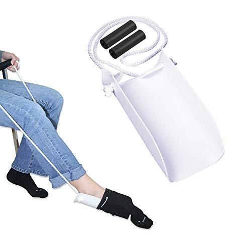 Zime Strumpfanziehhilfe für Senioren, Schwangere,  Herren und Damen, behinderte Menschen, ohne Beugen in der Taille, breites Design