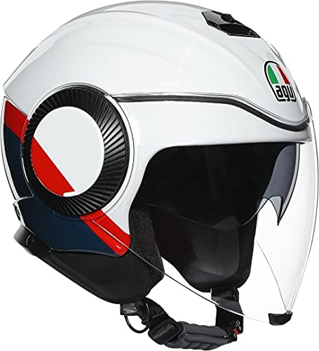 AGV Orbyt Block Casco a getto Bianco/Nero/Rosso M (57/58)