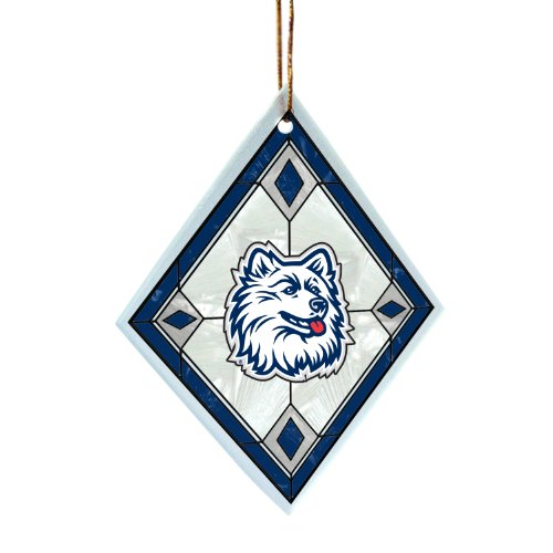NCAA Connecticut Huskies Art Glass Ornament