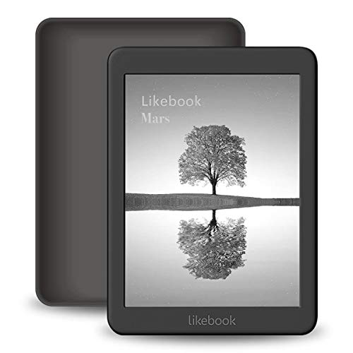 Likebook Mars E-Reader, 7.8 Carta Touch Screen,300PPI, 8Core Processor,Adjustable Built-in Warm/Cold Light, Built-in Audible, Support Google Play Store, Android 8.1