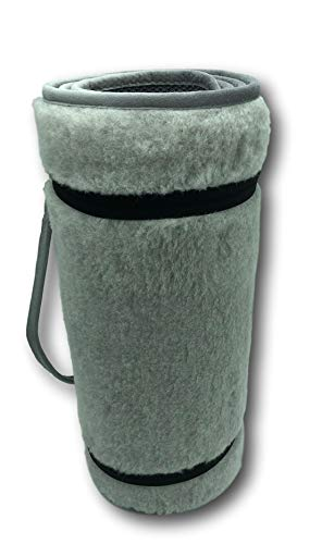 Alpenwolle yogamat Merino grijs gymnastiekmat sportmat fitnessmat wol antislip