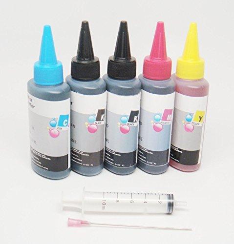 OPT Brand. 5 X 100ML UV Resistant Dye Refill Bulk Ink For Epson T273 XL T273XL Expression XP-820 XP-810 XP-800 XP-520 XP-600 XP-620 XP-610 Printers CISS CIS and refillable ink cartridge.