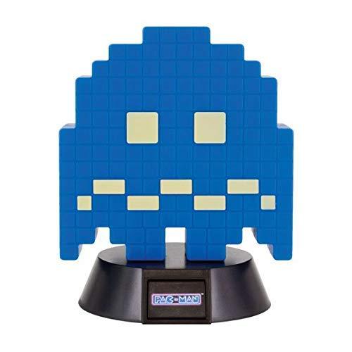 PAC-MAN lampa spöke blå/svart, tillverkad av plast, levereras i presentkartong, inklusive USB-kabel