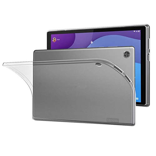 NUPO Funda para Lenovo Tab M10 HD (2nd Gen) 2020 10.1' TB-X306F Ultra Slim Translucent Soft TPU Silicona Tablet Crystal Transparente Funda Case para Lenovo Tab M10 HD Gen 2 10.1 pulgadas (blanco mate)